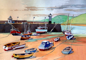 """St Ives, Harbour and Smeaton's Pier"""