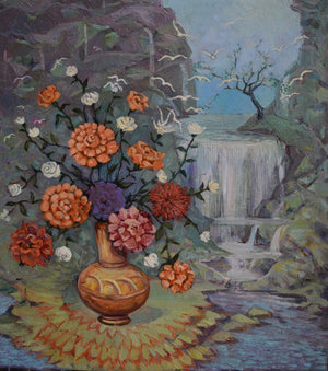 """Still Life with Waterfall"""