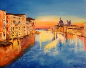 """Sunset on the Grand Canal"""