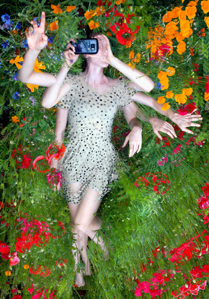 """Katrin in a Field of Flowers"""