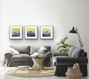 """Yellow Sky Triptych"""