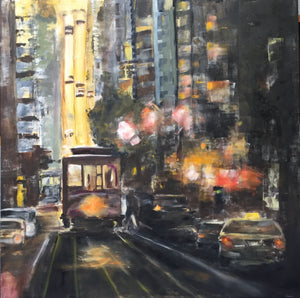 """California Street Trolley at Dusk"""