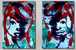 """Diptych in Red"""
