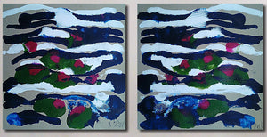 """Waterlilies"" (Diptych)"