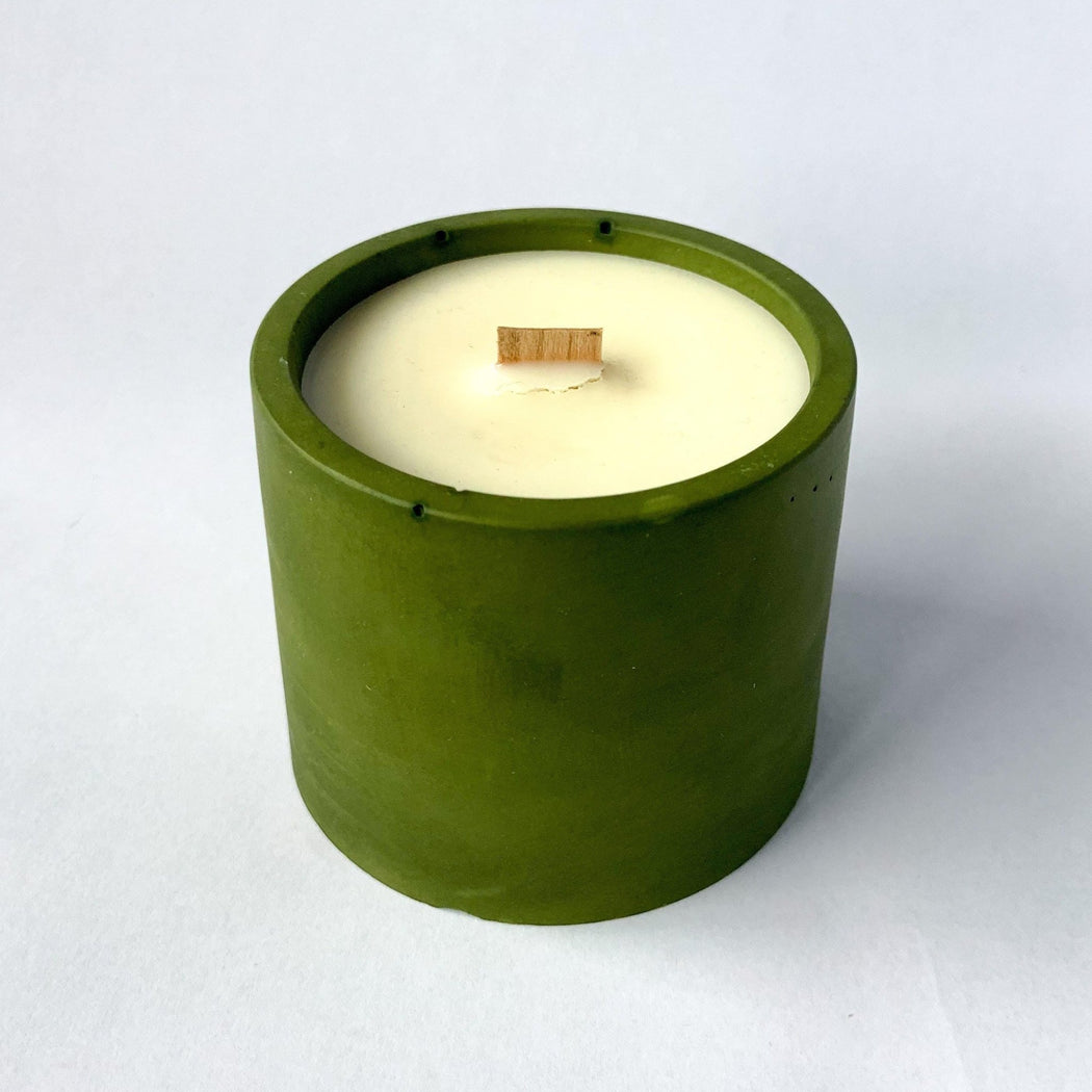 'THE ORIGINALS' OLIVE GREEN VEGAN SCENTED CANDLE ZLOW STUDIO - Pop the Bubble