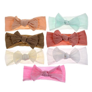 "4"" Nylon/Sheer Bow Headbands"
