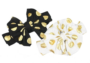 5.5 Inch Knotted Bow Headbands - Polka Dots - Many Colors