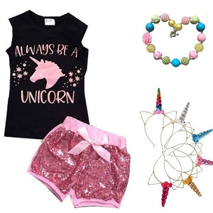 Always Be A Unicorn SEQUIN Short Outfit