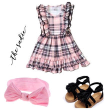 DRESS - Pink & Black The Sadie