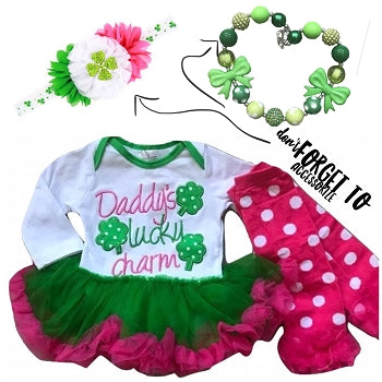Daddy's Lucky Charm Petti Outfit