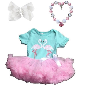 Infant Romper - Flamingo Pettiskirt Outfit