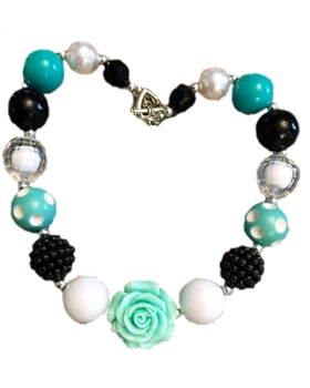 Kids Jewelry Necklace - Mint/Black