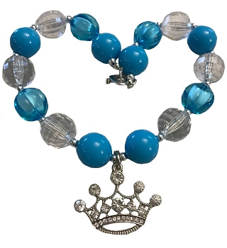Kids Jewelry Necklace - Teal Tiara
