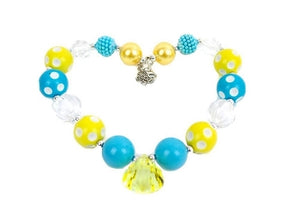 Kids Jewelry Necklace - Teal & Yellow
