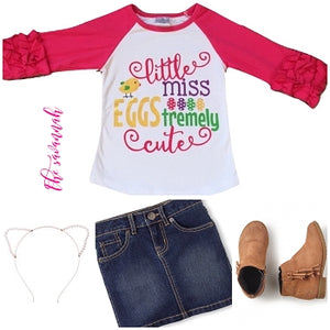 Little Miss EGGStremely Cute - Raglan