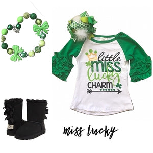 Little Miss Lucky Charm- Raglan