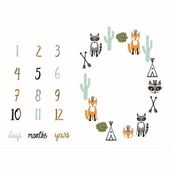 Milestone Backdrop - Animal Theme