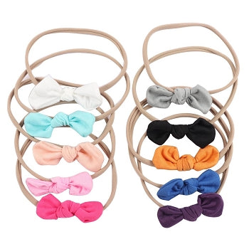 Nylon Knotted Bow Headband- The LANE
