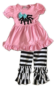 Pink Spider Ruffle Boutique Outfit