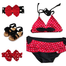 Swimsuit - Red, White & Black Ruffle - The Mouse