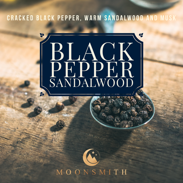 Black Pepper Sandalwood Wax Melt Snap Bar