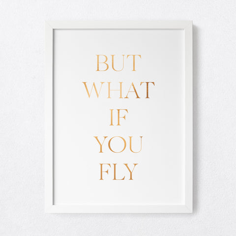 But what if you fly Serif - foil print