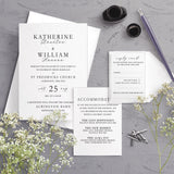 Anna Typography A5 Bundle Wedding Invitation