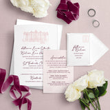 Woodlands Illustation A5 Bundle Wedding Invitation