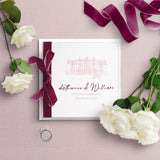 Woodlands Illustration Folded Wedding Invitation