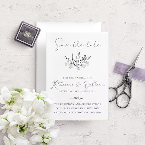 Whiteberry Gardens A6 Save the Date Postcard