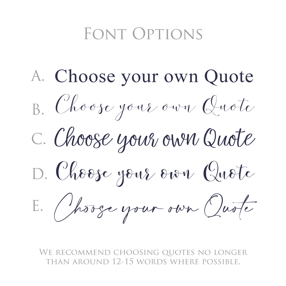 Choose your own quote - foil print