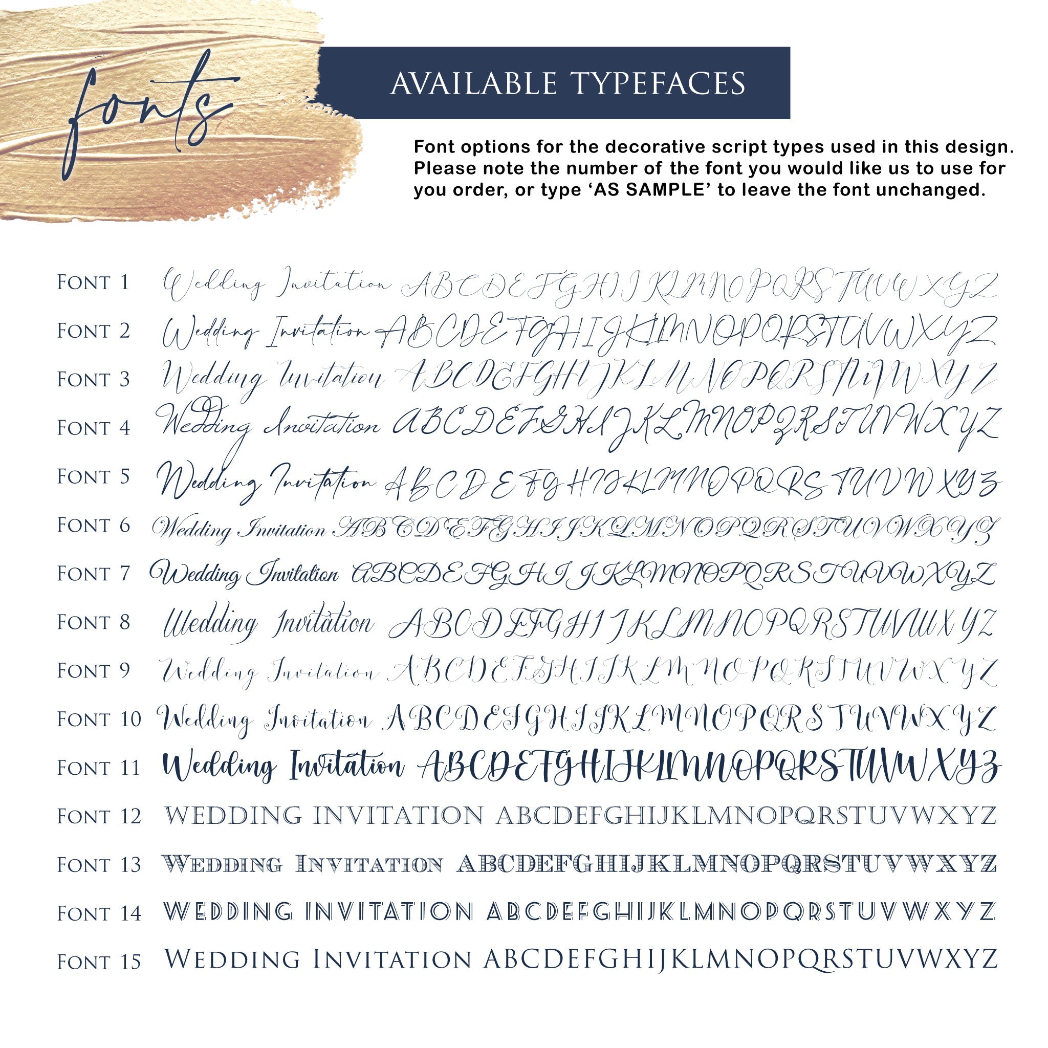 Ainsley Blue Flora A5 Bundle Wedding Invitation