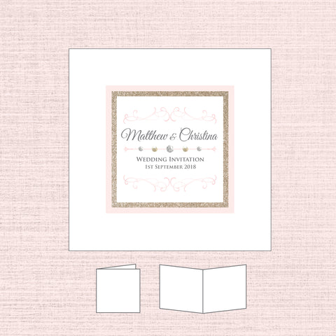 Grace - Glitter Folded Invitation