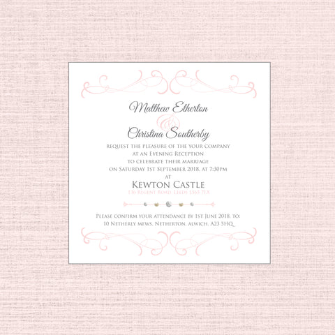 Grace - Square flat invitation