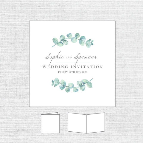 Eucalyptus - Folded Invitation