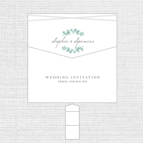 Eucalyptus - Luxury Envelope Fold Invitation