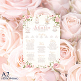 A2 Print only table plan