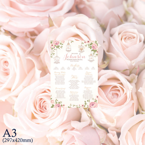 A3 Print only table plan