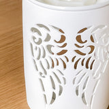Angel Wings White Cutout Detail TEALIGHT Wax Melt Burner & 1 free wax melt