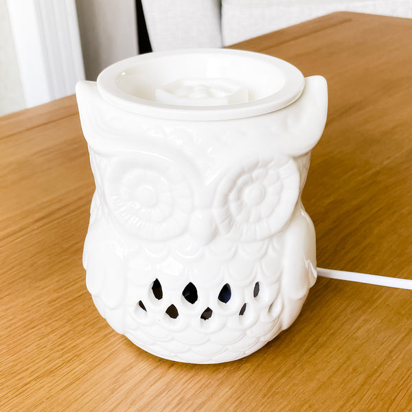 Ceramic Owl ELECTRIC Wax Melt Burner & 1 free melt