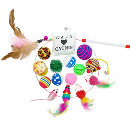 Bonheur de Chat kit jouets anti ennui - lot 16 pieces