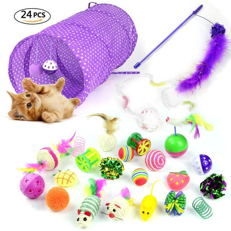 Bonheur de Chat kit jouets anti ennui - lot 24 pieces