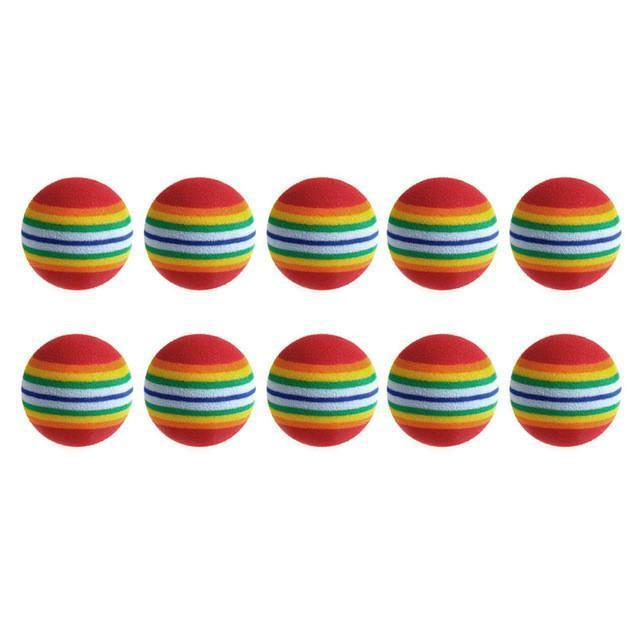 Bonheur de Chat Lot de 10 balles multicolores pour chat