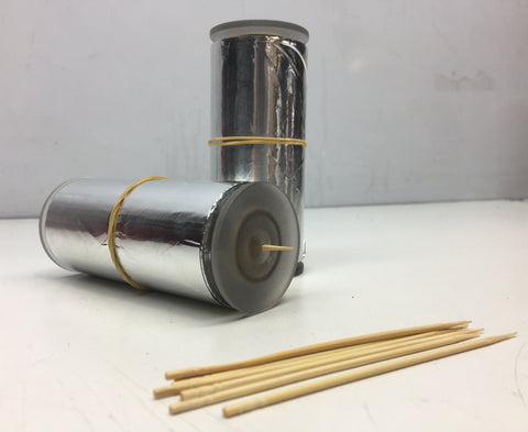 50M foil/toothpick holder with toothpicks