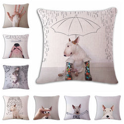 Dog Pillow Cases - Bull Terrier Cushion Covers - 16 Designs