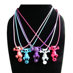 Multiple Color Cute Cat Necklace and Pendant - 10 Variations