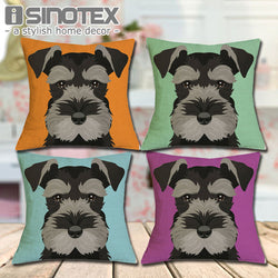 Dog Pillow Cases  - Schnauzer Dog Pillow Cases - 16 Colors