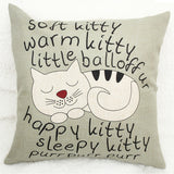 Cat Pillow Cases - Soft Kitty, Warm Kitty Vintage Pillow