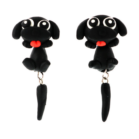 Dog Earrings - 100% Handmade Polymer Cute Dog Earrings - 6 Colors