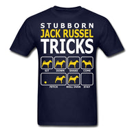 Dog T-Shirts - Stubborn Jack Russel Tricks Men's T-Shirt - 5 Colors / 4 Sizes